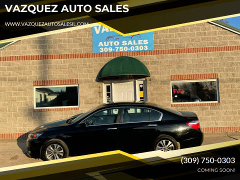 2015 Honda Accord for sale at VAZQUEZ AUTO SALES in Bloomington IL