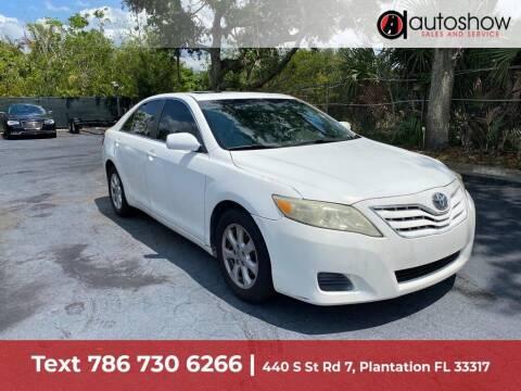 2011 Toyota Camry for sale at AUTOSHOW SALES & SERVICE in Plantation FL