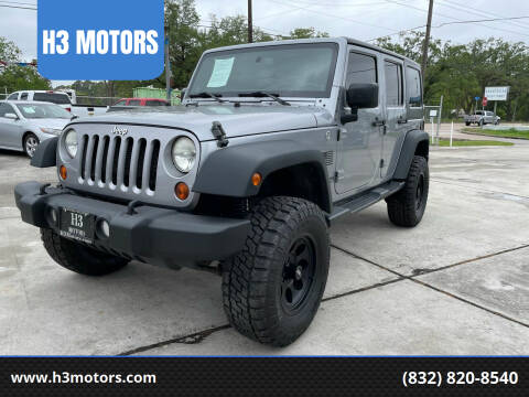 2013 Jeep Wrangler Unlimited for sale at H3 MOTORS in Dickinson TX
