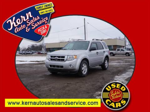 2011 Ford Escape for sale at Kern Auto Sales & Service LLC in Chelsea MI