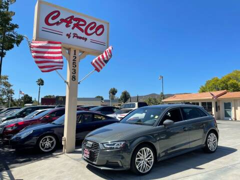 2018 Audi A3 Sportback e-tron for sale at CARCO SALES & FINANCE - CARCO OF POWAY in Poway CA