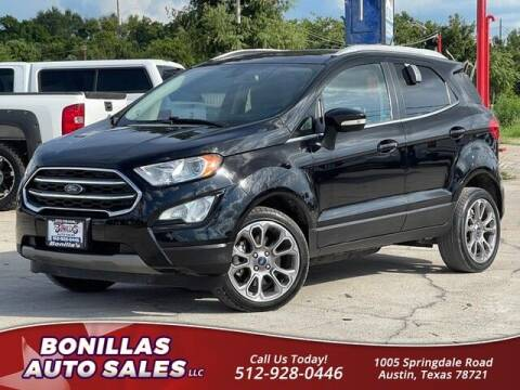 2019 Ford EcoSport for sale at Bonillas Auto Sales in Austin TX