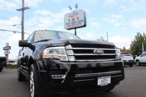 2015 Ford Expedition EL for sale at S&S Best Auto Sales LLC in Auburn WA