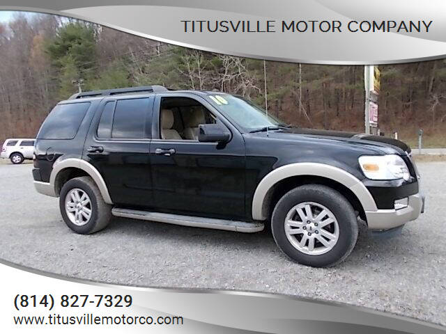 2010 Ford Explorer for sale at Titusville Motor Company in Titusville PA