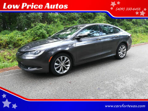 2015 Chrysler 200 for sale at Low Price Autos in Beaumont TX