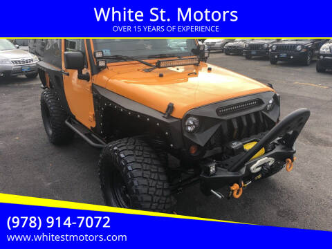2012 Jeep Wrangler for sale at White St. Motors in Haverhill MA