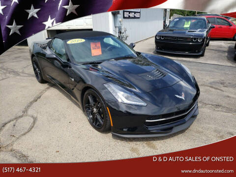 2019 Chevrolet Corvette for sale at D & D Auto Sales Of Onsted in Onsted   Brooklyn MI
