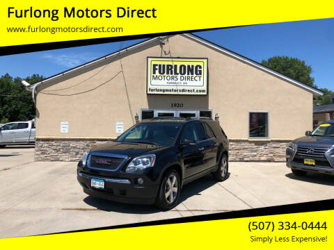 2012 GMC Acadia for sale at Furlong Motors Direct in Faribault MN