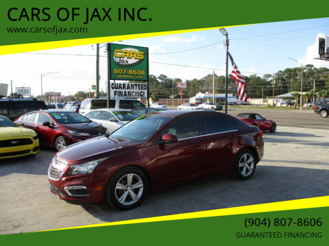 2015 Chevrolet Cruze for sale at CARS OF JAX INC. in Jacksonville FL