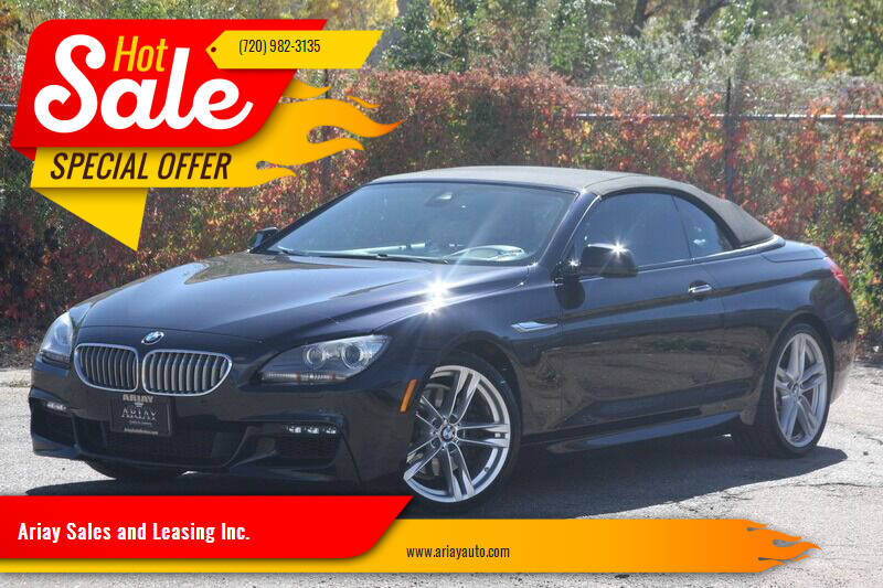 2013 BMW 6 Series for sale at Ariay Sales and Leasing Inc. - Pre Owned Storage Lot in Glendale CO