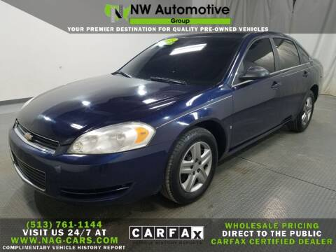 2008 Chevrolet Impala for sale at NW Automotive Group in Cincinnati OH