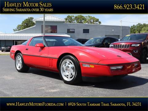 1990 Chevrolet Corvette for sale at Hawley Motor Sales in Sarasota FL