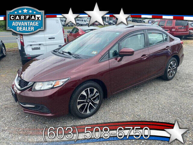 2015 Honda Civic for sale at J & E AUTOMALL in Pelham NH