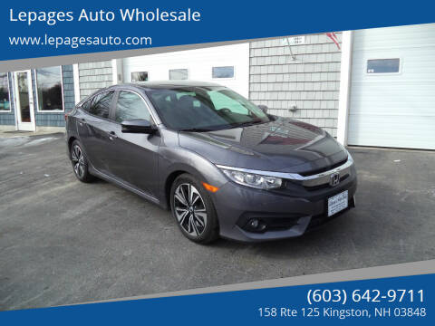 2016 Honda Civic for sale at Lepages Auto Wholesale in Kingston NH