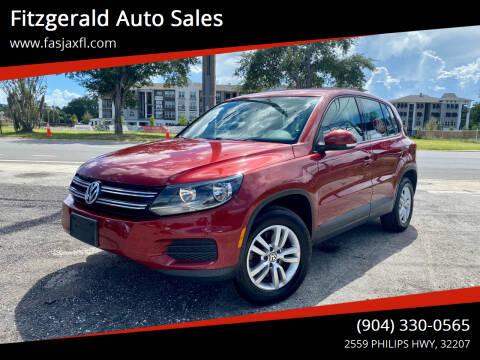 2013 Volkswagen Tiguan for sale at Fitzgerald Auto Sales in Jacksonville FL