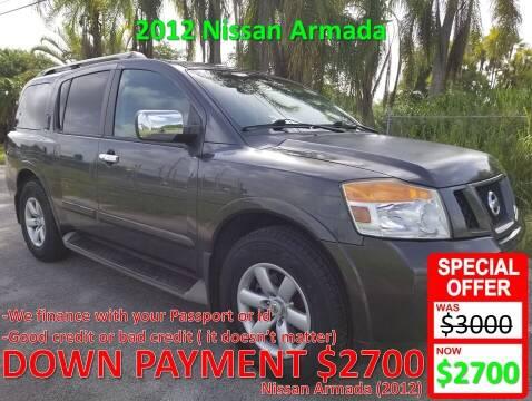 2012 Nissan Armada for sale at AUTO COLLECTION OF SOUTH MIAMI in Miami FL