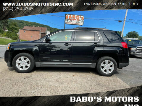 2014 GMC Terrain for sale at BABO'S MOTORS INC in Johnstown PA