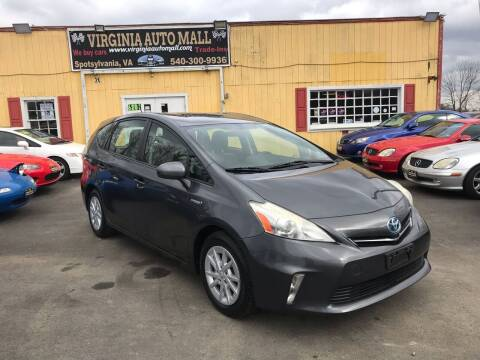 2012 Toyota Prius v for sale at Virginia Auto Mall in Woodford VA