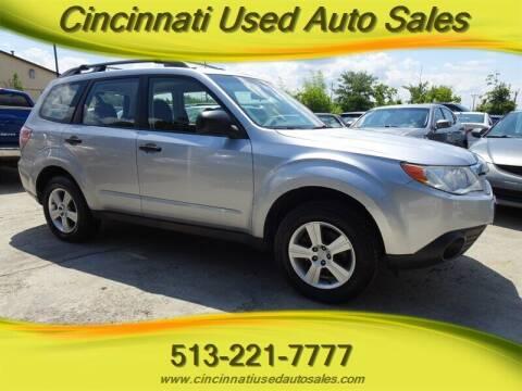 2013 Subaru Forester for sale at Cincinnati Used Auto Sales in Cincinnati OH