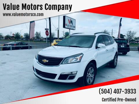 2017 Chevrolet Traverse for sale at Value Motors Company in Marrero LA