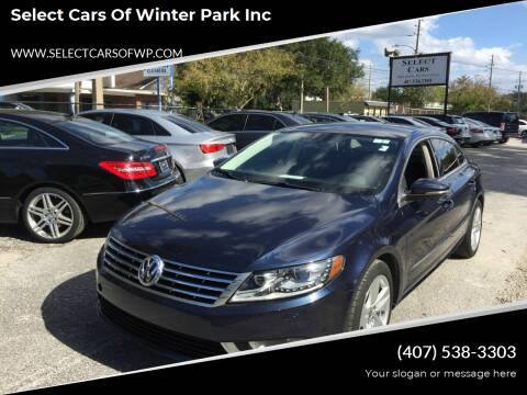 2013 Volkswagen CC for sale at Select Cars Of Winter Park Inc in Orlando FL