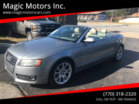 2011 Audi A5 for sale at Magic Motors Inc. in Snellville GA