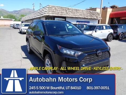 2020 Toyota RAV4 for sale at Autobahn Motors Corp in Bountiful UT