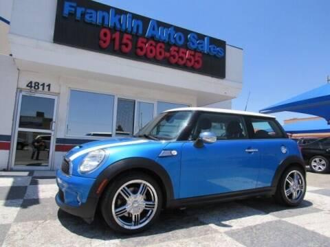 2009 MINI Cooper for sale at Franklin Auto Sales in El Paso TX