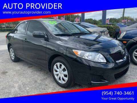 2009 Toyota Corolla for sale at AUTO PROVIDER in Fort Lauderdale FL