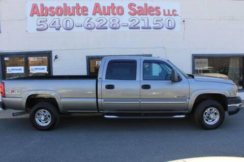 2007 Chevrolet Silverado 2500HD Classic for sale at Absolute Auto Sales in Fredericksburg VA