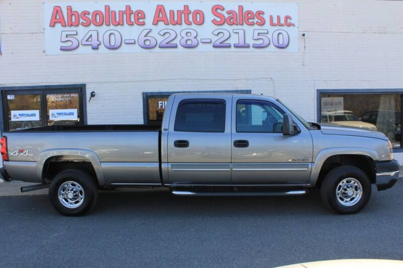 2007 Chevrolet Silverado 2500HD Classic for sale at Absolute Auto Sales in Fredericksburg VA