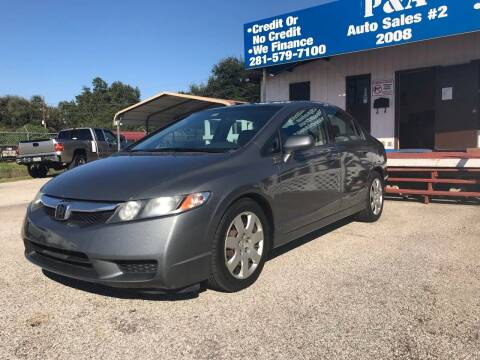 2009 Honda Civic for sale at P & A AUTO SALES in Houston TX