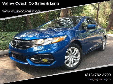 2015 Honda Civic for sale at Valley Coach Co Sales & Lsng in Van Nuys CA
