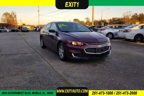 2016 Chevrolet Malibu for sale at Exit 1 Auto in Mobile AL