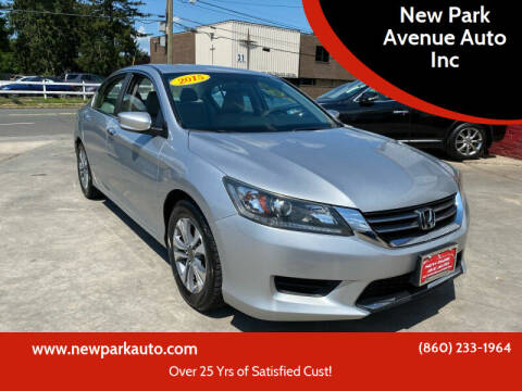 2015 Honda Accord for sale at New Park Avenue Auto Inc in Hartford CT