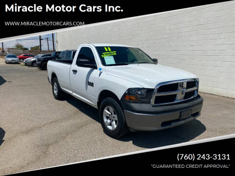2011 RAM Ram Pickup 1500 for sale at Miracle Motor Cars Inc. in Victorville CA