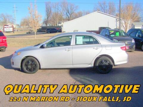 2010 Toyota Corolla for sale at Quality Automotive in Sioux Falls SD