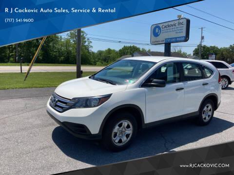 2012 Honda CR-V for sale at R J Cackovic Auto Sales, Service & Rental in Harrisburg PA
