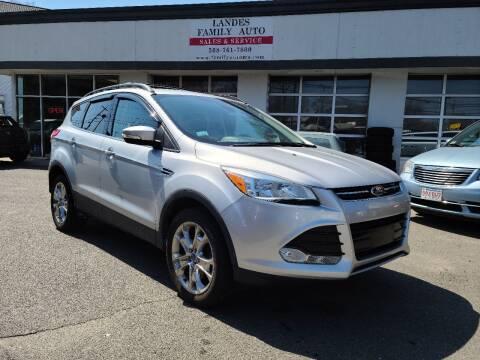 2013 Ford Escape for sale at Landes Family Auto Sales in Attleboro MA