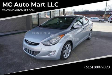 2012 Hyundai Elantra for sale at MC Auto Mart LLC in Hermitage TN