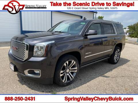 2017 GMC Yukon for sale at Spring Valley Chevrolet Buick in Spring Valley MN