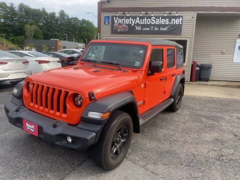 2018 Jeep Wrangler Unlimited for sale at Variety Auto Sales in Worcester MA