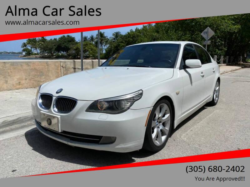 2008 BMW 5 Series for sale at Alma Car Sales in Miami FL