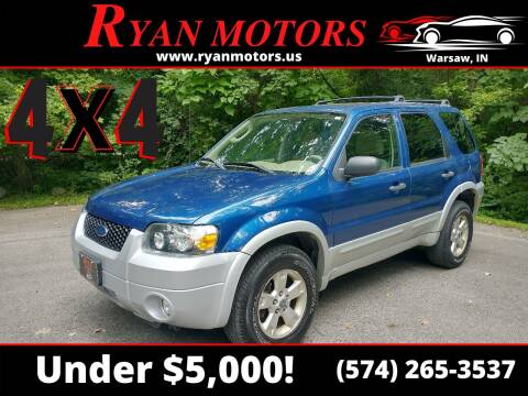 2007 Ford Escape for sale at Ryan Motors LLC in Warsaw IN