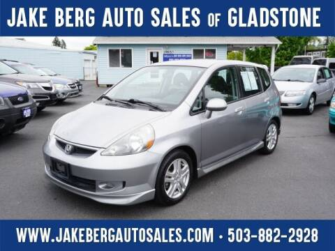 2007 Honda Fit for sale at Jake Berg Auto Sales in Gladstone OR