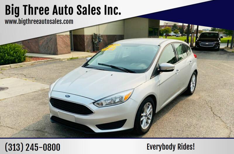2016 Ford Focus for sale at Big Three Auto Sales Inc. in Detroit MI