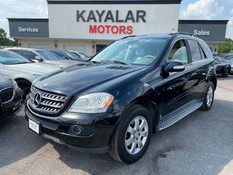 2007 Mercedes-Benz M-Class for sale at KAYALAR MOTORS in Houston TX
