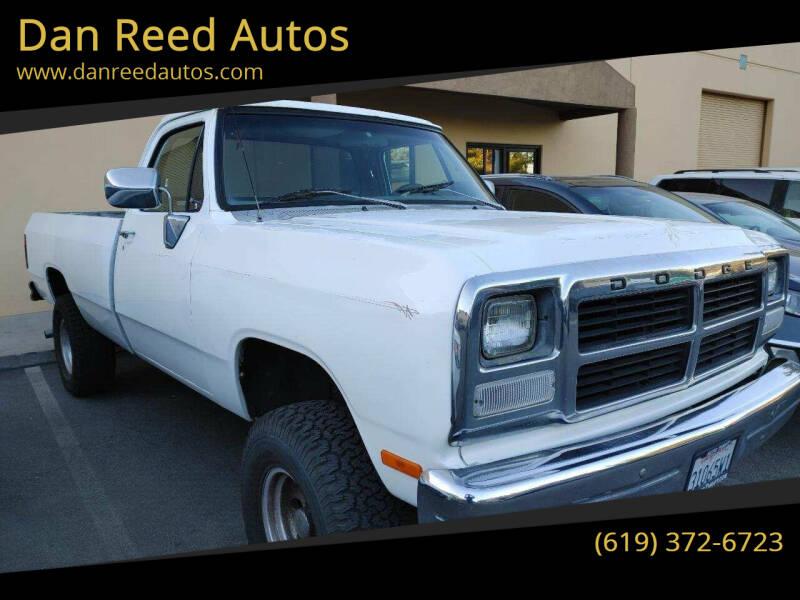 1992 Dodge RAM 150 for sale at Dan Reed Autos in Escondido CA