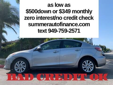 2013 Mazda MAZDA3 for sale at SUMMER AUTO FINANCE in Costa Mesa CA