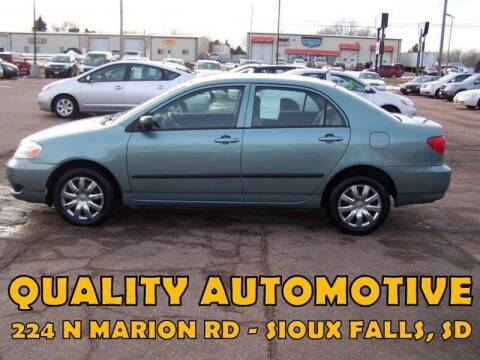2007 Toyota Corolla for sale at Quality Automotive in Sioux Falls SD